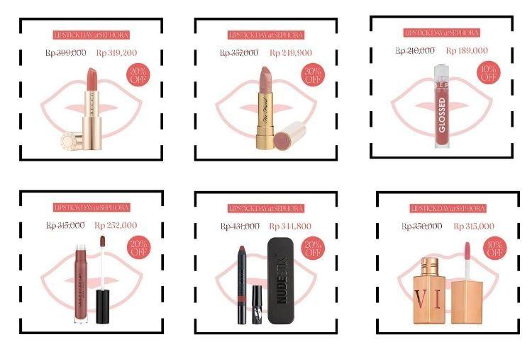 Rayakan National Lipstick Day, Sephora Berikan Banyak Promo Menarik