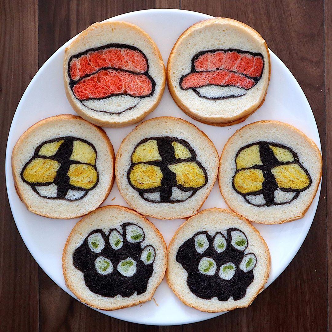 So Cute! Cobain Sarapan Kreasi Roti Tawar dengan Aplikasi Karakter