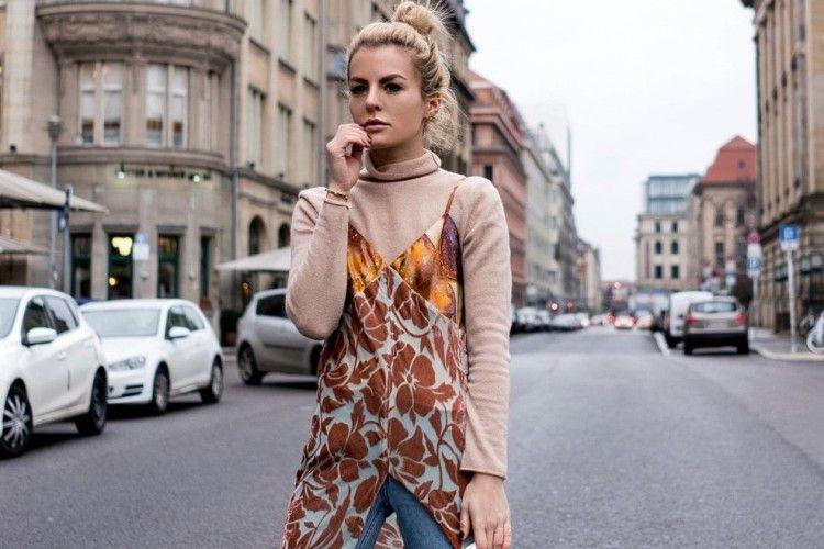Tips Mix & Match Dress dan Celana Jeans, Anti-Basic Look!