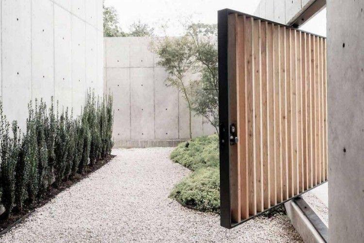 9 Desain Pagar Rumah Minimalis Dan Modern, Anti Bosan