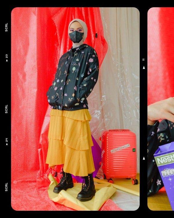 Rok Midi Mix N Match untuk Hijabers