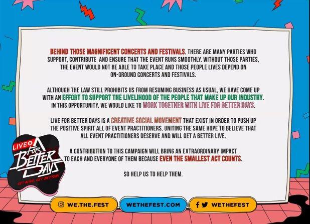 Jadi Konser Virtual, We The Fest Siap Live di 26 & 27 September 2020