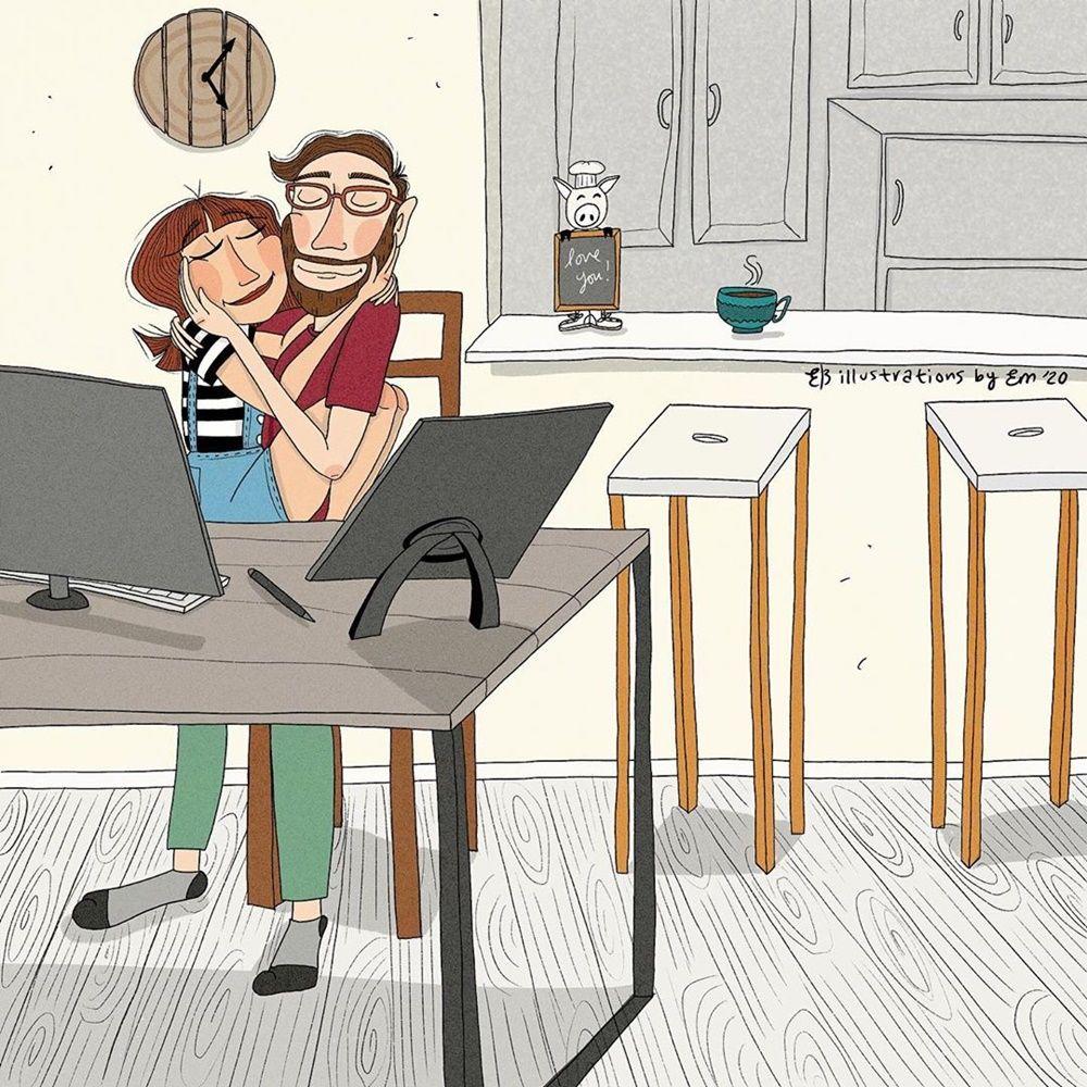 9 Ilustrasi Romantisnya Jadi Pasutri, Bikin Kamu Ingin Cepat Menikah!