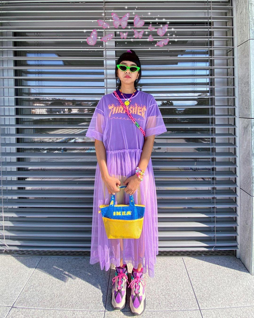 Mudah Ditiru, Ini Gaya Selebgram Indonesia Pakai Outfit Warna Lilac
