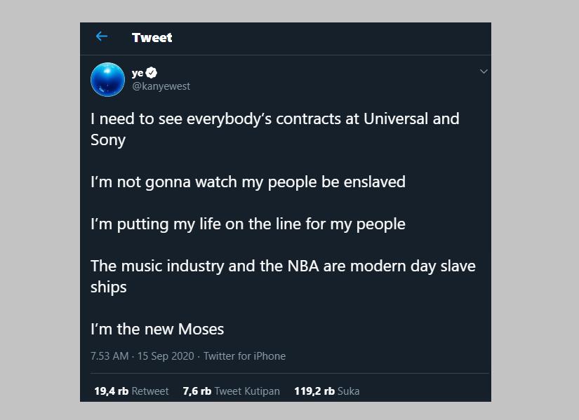 Geger Kanye West Mengaku Nabi Musa Baru dan Kencingi Piala Grammy