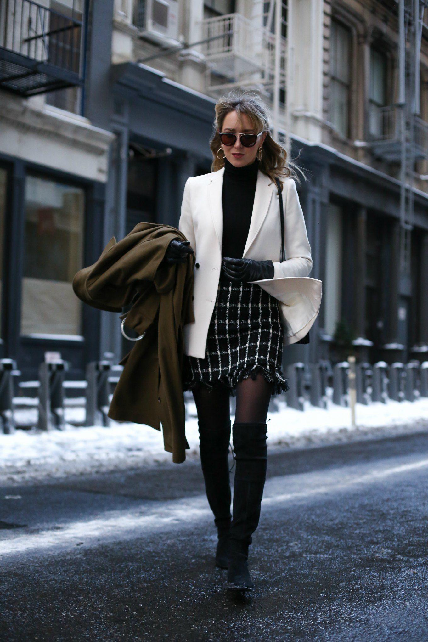 Tips Fashion Pakai Rok Pendek Anti Kedinginan