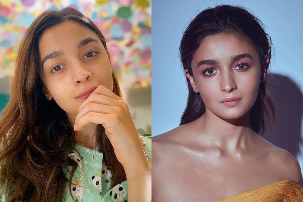 Begini Perbedaan Para Artis Bollywood Ketika Nggak Pakai Makeup