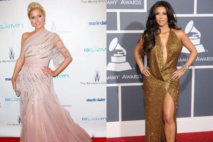 Perbandingan Gaya Paris Hilton vs Kim Kardashian West