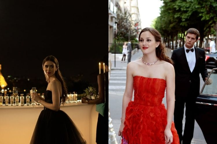Adu Gaya Outfit Emily in Paris vs Gossip Girls, Banyak Miripnya!
