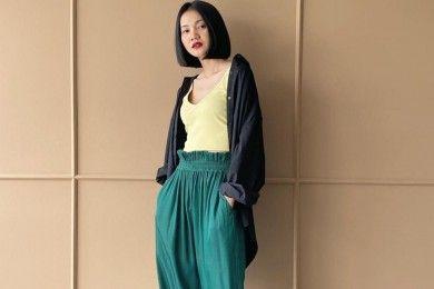 PopbelaOOTD Nyaman saat Musim Hujan Pakai Celana Panjang Brand Lokal