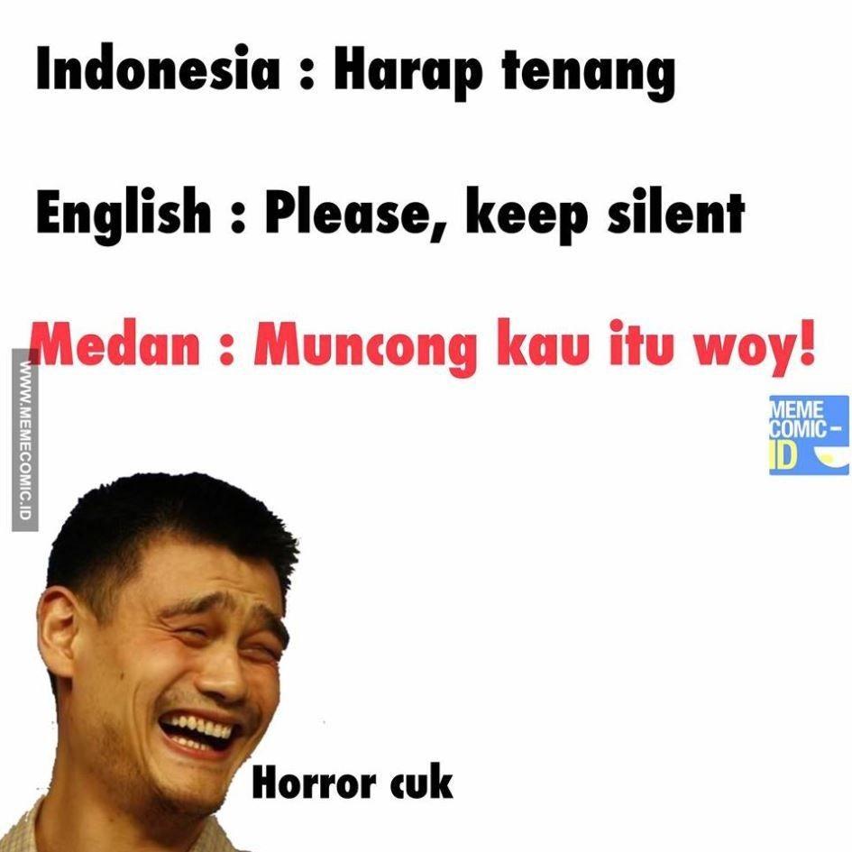 10 Meme Bahasa Inggris VS Bahasa Daerah yang Kocak Abis, Ngakak!