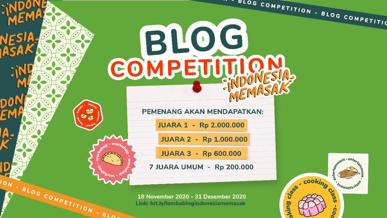 Blog Competition Indonesia Memasak by Yummy Berhadiah Jutaan Rupiah