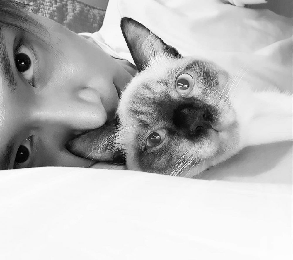 Sayang Binatang, Ini10 Potret Ten NCT dengan Kucing Kesayangan