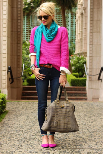 Mix N Match Cardigan Berwarna Cerah