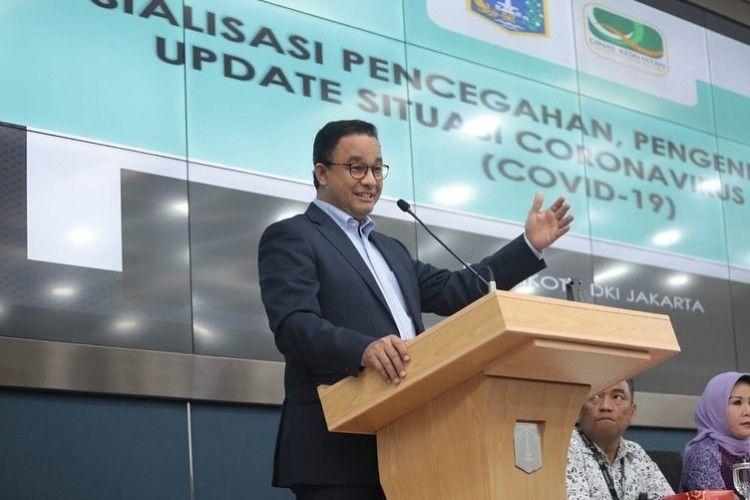 Potret Anies Baswedan Keliling Jakarta Sebelum Positif COVID-19