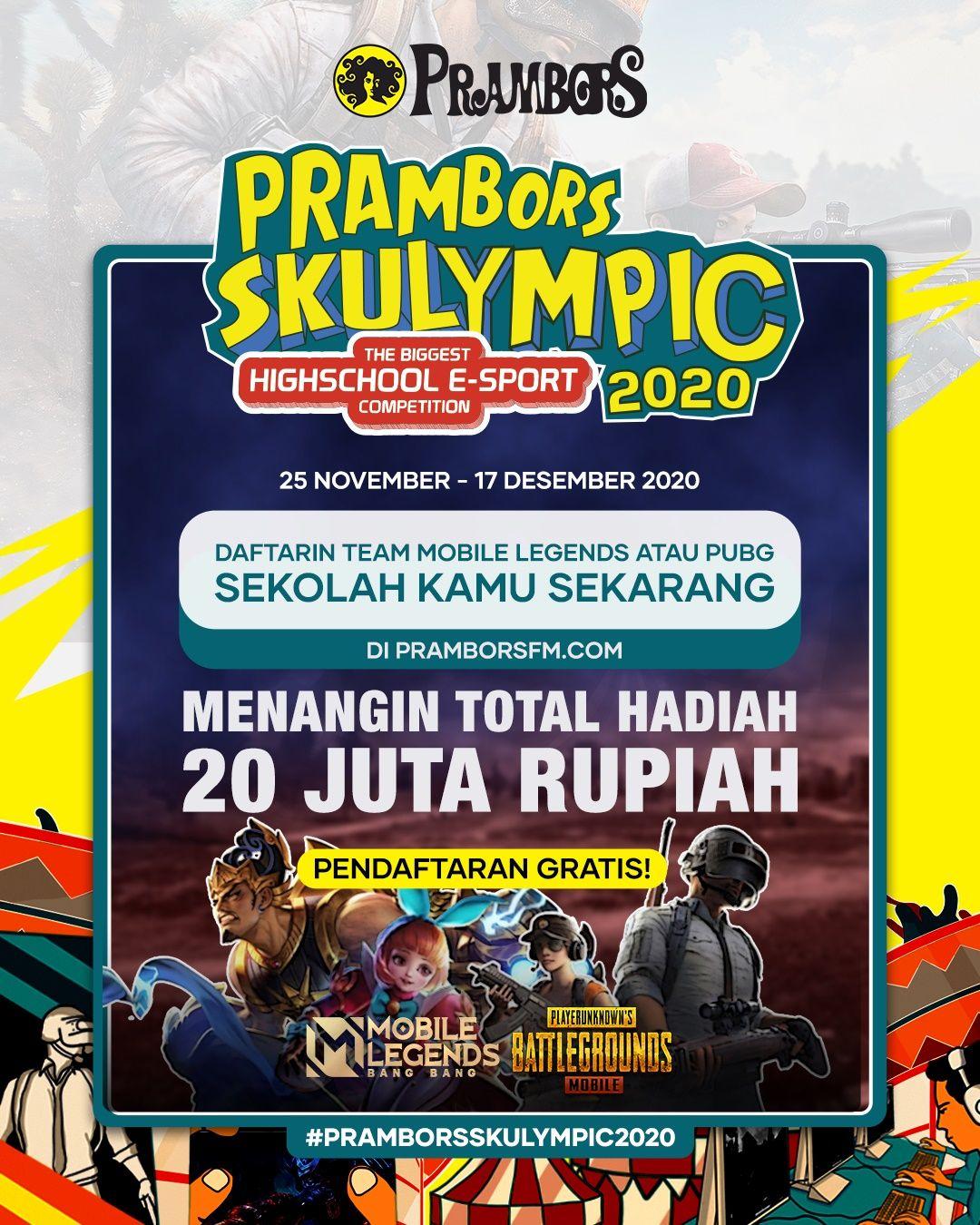 Dukung E-Sports Indonesia, Prambors Selenggarakan Kompetisi Skulympic