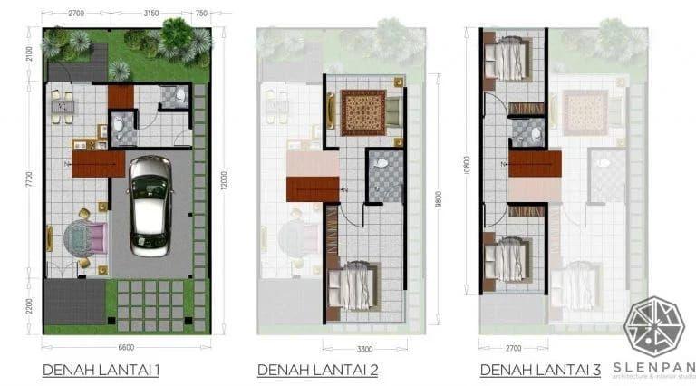 Modern dan Nyaman, Ini 9 Denah Rumah Sederhana yang Memikat