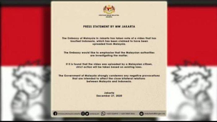 Dijadikan Parodi, Malaysia Mengutuk Video yang Menghina Indonesia