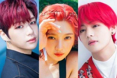 9 Idol Kpop Paling Memukau Rambut Merah, Bikin Membara