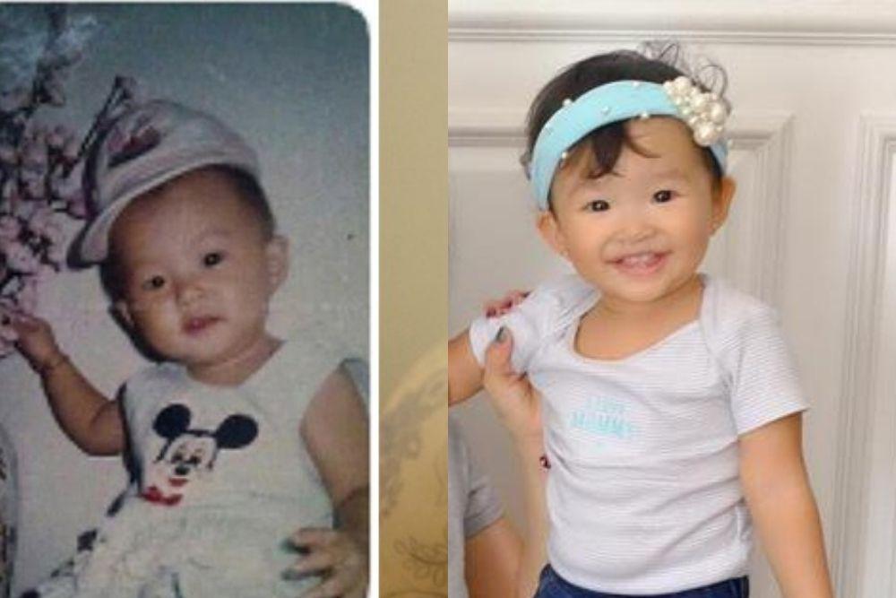 Perbandingan Potret Masa Kecil Seleb vs Anaknya, Bagai Anak Kembar!