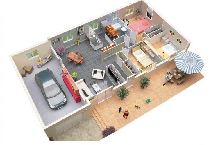Muat untuk Mobilmu, 7 Inspirasi Denah Rumah Minimalis dengan Garasi