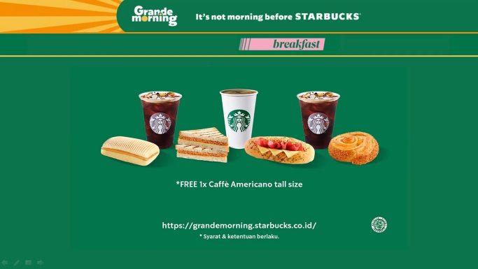 Kopi Bikin Pagi Lebih Semangat, Starbucks Luncurkan Grande Morning