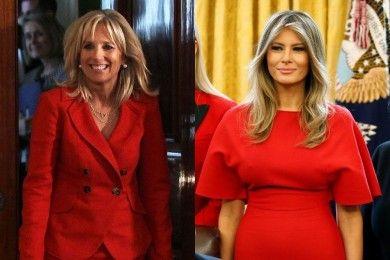 Adu Pesona Jill Biden vs Melania Trump, First Lady Bikin Terpana
