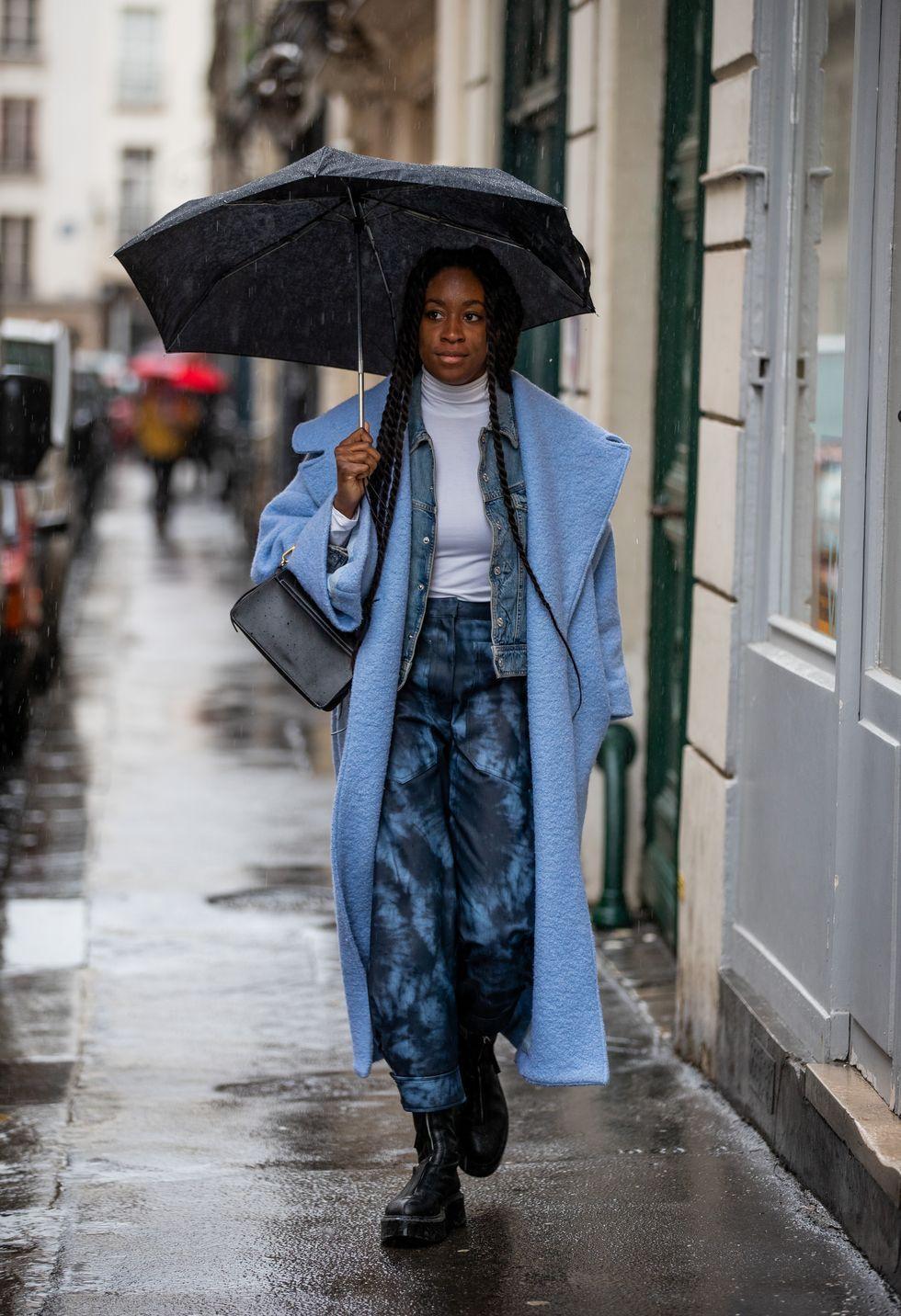 Tips Padu-padan Jaket Jeans untuk Musim Hujan