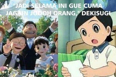 Kocak 10 Meme tentang Pernikahan Nobita & Shizuka Ini Bikin Ngakak