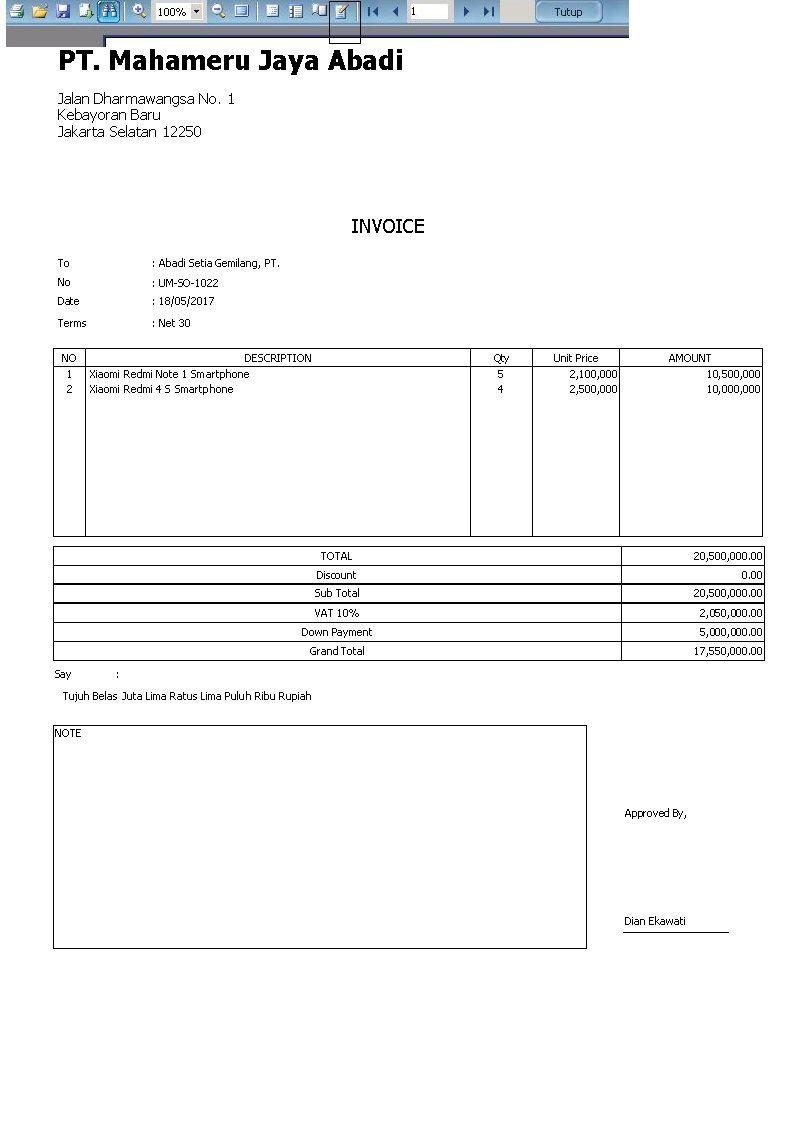 Pemilik Small Business Wajib Tahu, Ini 9 Contoh Invoice