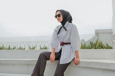 Inspirasi Padu-padan Outfit Hijab Kemeja