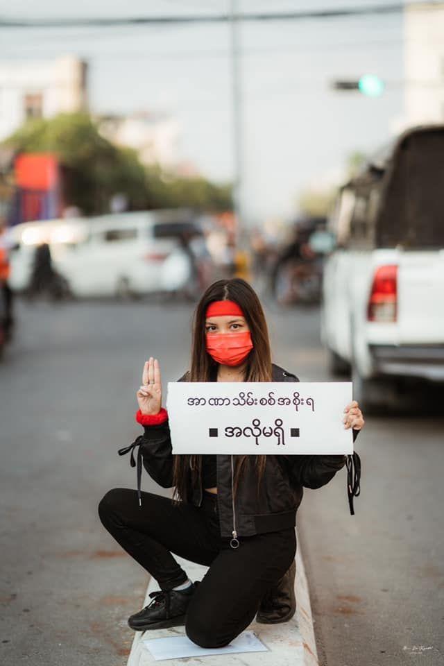 Kyal Sin, Sosok Perempuan Tangguh yang Tewas di Tengah Demo Myanmar