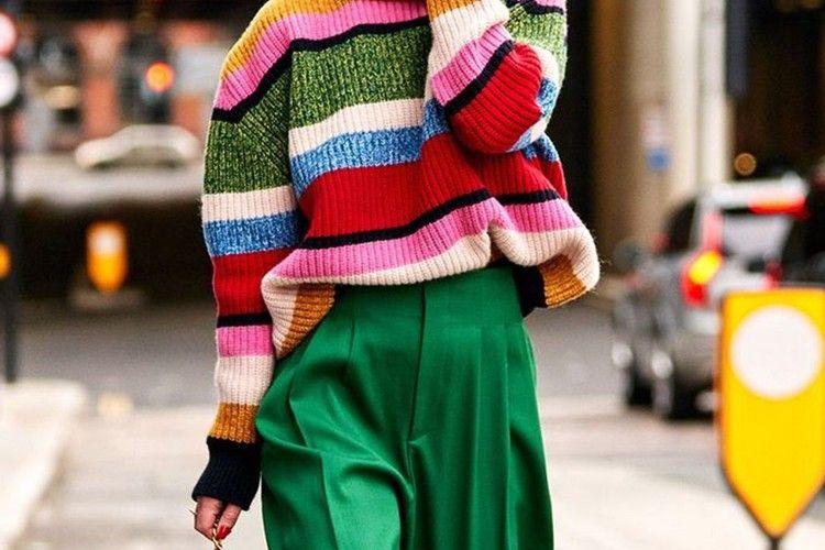 Inspirasi Tampilan Chic dengan Tabrak Warna