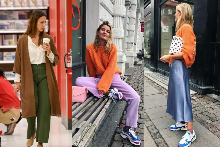 Anti-boring! Contek Gaya Tabrak Warna OOTD yang Simple