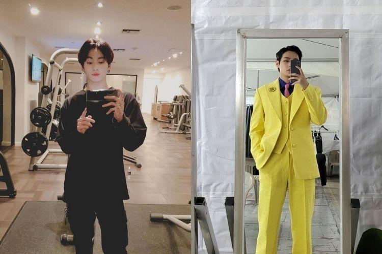 Adu Gaya Mirror Selfie Jungkook vs V BTS, Siapa Paling Keren?