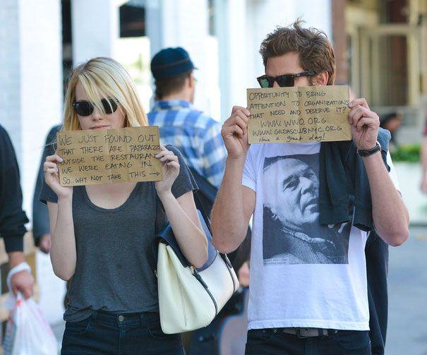 Gaya 'Aneh' Seleb Hollywood saat Bertemu Paparazzi,Konyol Semua!