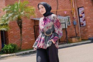 Tips Padu-padan Outfit Hijab Celana OOTD Lebaran
