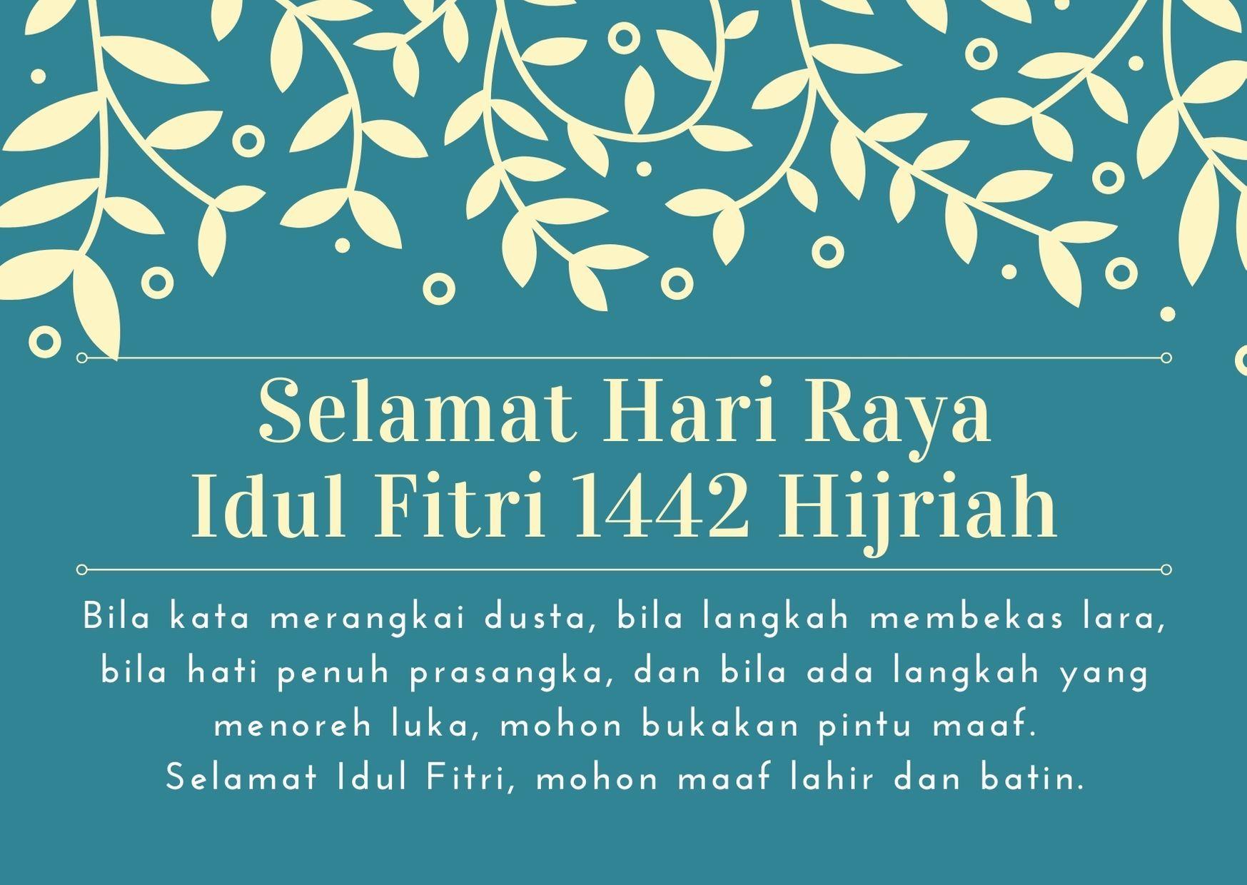 15 Ucapan Selamat Idul Fitri 2021 Lengkap dengan Gambar