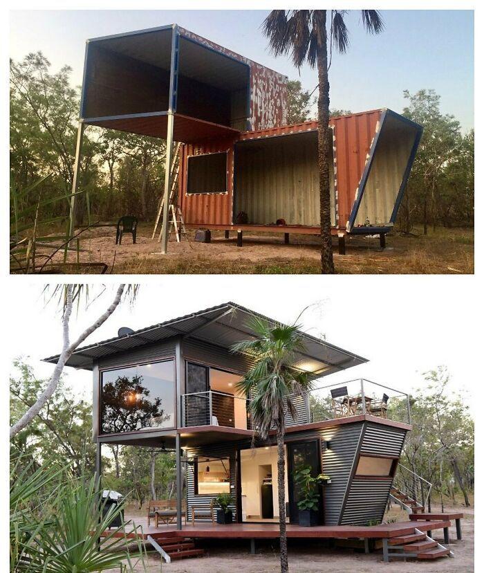 Lebih Murah, Ini 9 Inspirasi Rumah Estetik dari Container Bekas