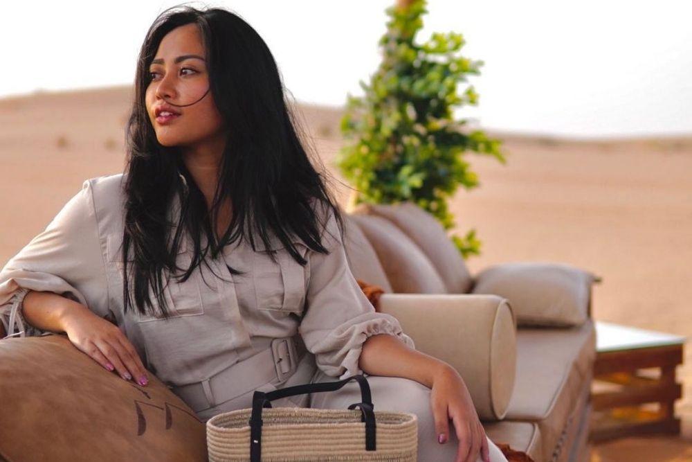 Bahagia, Intip Pesona Rachel Vennya Liburan Ke Dubai