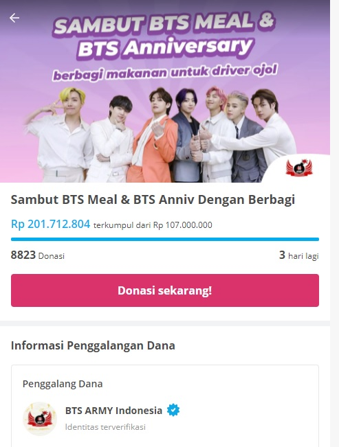 Jangan Remehkan BTS ARMY Indonesia yang Galang Dana Capai Rp201 Juta
