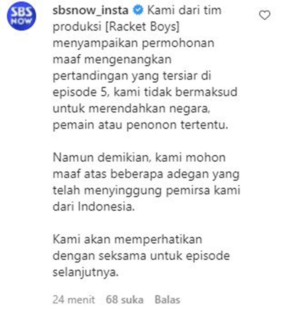 'Racket Boys' Hina Indonesia, Ini Klarifikasi Tim Produksi ke Warganet