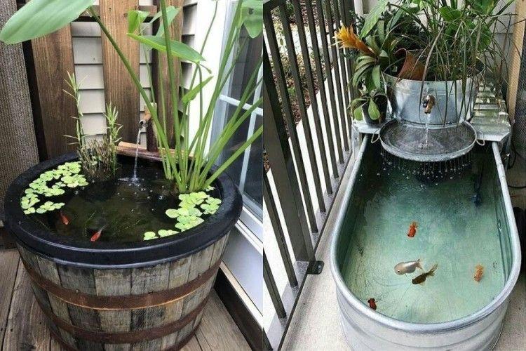 11 Ide Kolam Ikan Minimalis yang Unik dan Menarik Perhatian