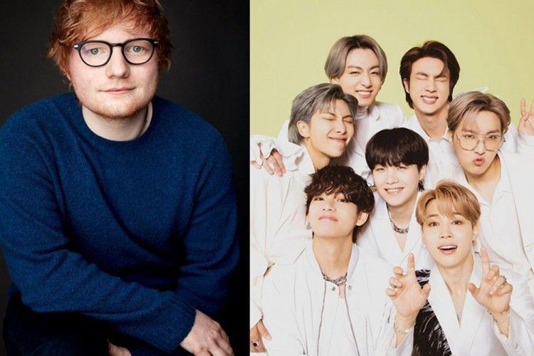 Jadi Ajang Reuni, Deretan Fakta Partisipasi Ed Sheeran di Lagu BTS