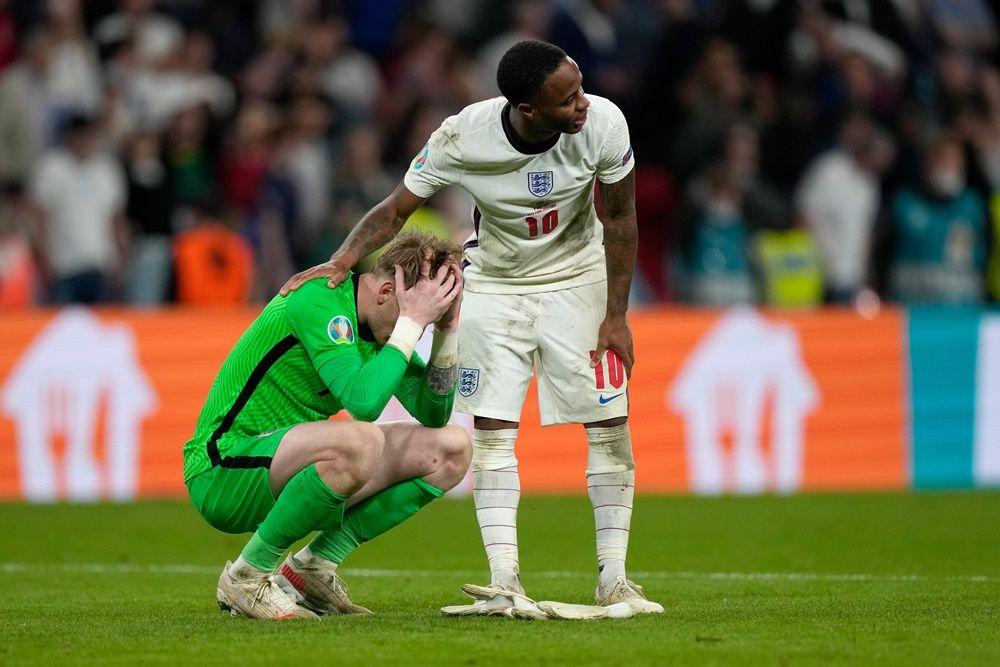 15 Foto Duka dan Ria Inggris Vs Italia di Final EURO 2020