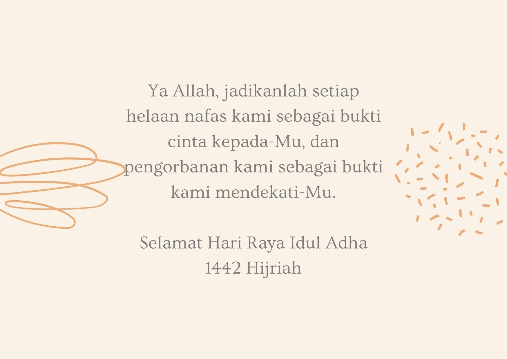 15 Ucapan Hari Raya Idul Adha 2021 Lengkap dengan Gambar