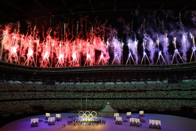Deretan Foto Opening Ceremony Olimpiade Tokyo 2020, Super Meriah!