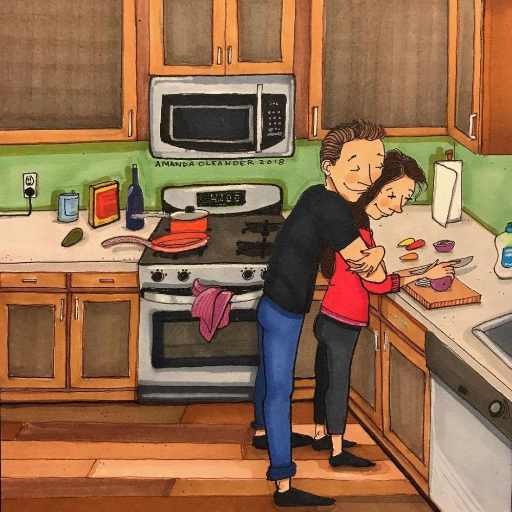 10 Ilustrasi Rasanya Pertama Kali Tinggal Bareng Pasangan Usai Nikah