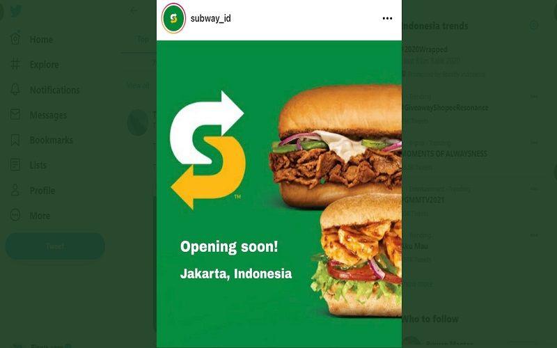 Bukan Prank! Subway Resmi Kembali Hadir di Indonesia