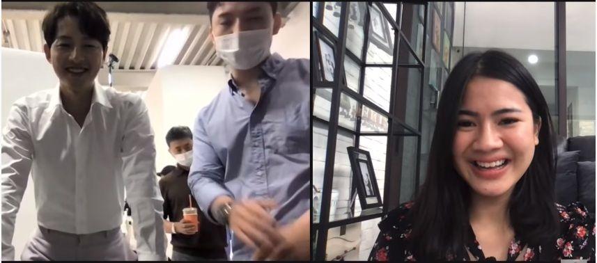 Felicya Angelista Video Call dengan Song Joong Ki, Ini Obrolannya